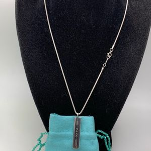 "Tiffany & Co.925 "" 1837 CO 925 "" Tag On 17"" Chain"